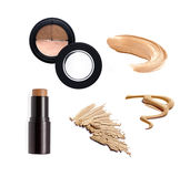 Collection of various make up powder Stock Photos