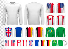 Collection of various male long sleeved shirts. Royalty Free Stock Photos
