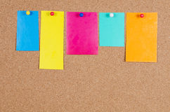 Collection of various note paper Royalty Free Stock Photography