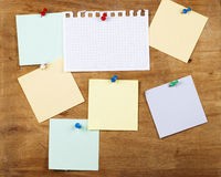 Collection of various note papers Royalty Free Stock Image