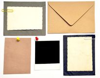 Collection of various note papers Royalty Free Stock Photography