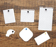 Collection of various note papers Stock Image