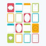 Collection of various note papers. Cute design elements. Templat Royalty Free Stock Photography