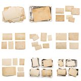 Collection of various old photos on white background. each one is shot separately. Old photo frame. Vintage paper. Retro card royalty free stock image