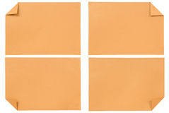 Collection of various Orange paper isolated Royalty Free Stock Photos