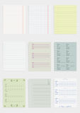 Collection of various paper Stock Images