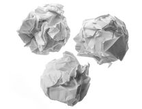 Collection of various paper ball Stock Photos