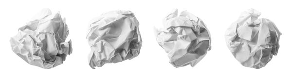 Collection of various paper ball Royalty Free Stock Images
