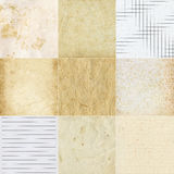 Collection of various paper textures Stock Image