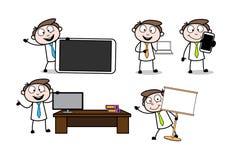 Collection Of Various Presentation Cartoon Professional. Vector design stock illustration