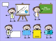 Collection Of Various Presentation Concepts Professional Businessman. Design vector illustration