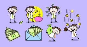 Collection Of Various Presentation Concepts Professional Businessman. Design royalty free illustration