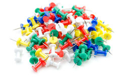 Collection of various pushpins Stock Image
