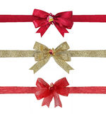 Collection of various ribbons bow Stock Images