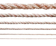 Collection of various ropes Royalty Free Stock Photography