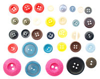 Collection of various sewing button Royalty Free Stock Images