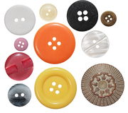 Collection of various sewing button Royalty Free Stock Photos