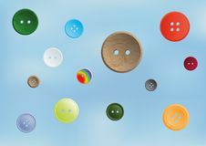 Collection of various sewing button Royalty Free Stock Photography
