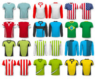 Collection of various shirts. Design template. Stock Image