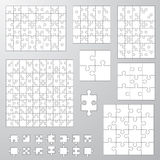 Collection of various sizes jigsaw puzzle. Royalty Free Stock Image