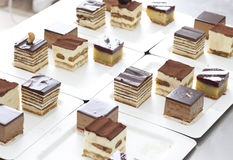 Collection of various small cube  cake Stock Images