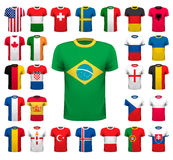 Collection of various soccer jerseys. National shirt design. Vector illustration Stock Photography