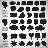 Collection of various speech bubbles shapes Stock Photo