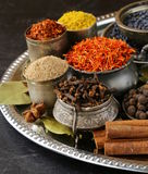 Collection of various spices Stock Photos