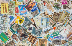 Collection of various stamps background Royalty Free Stock Photography