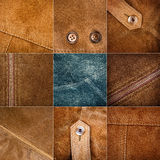 Collection of various suede textures Royalty Free Stock Photography
