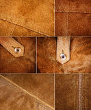 Collection of various suede textures Stock Images