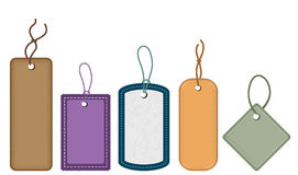 Collection of various tags. Collection of various price tags Stock Images