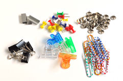 Collection of various type of paper clip Stock Photography