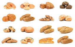 Collection of various types of breads. Royalty Free Stock Images