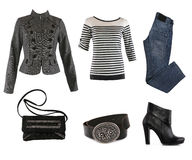 Collection of various types of female accessories Royalty Free Stock Images