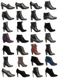 Collection of various types of female shoes Royalty Free Stock Image