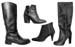 Collection of various types of female shoes Stock Photography
