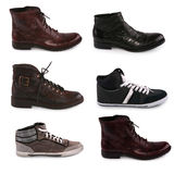Collection of various types of male shoes Stock Photography