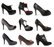 Collection of various types of shoes Royalty Free Stock Image