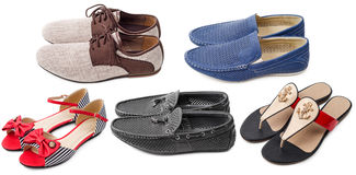 Collection of various types shoes Stock Image