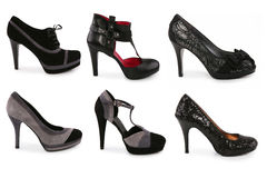 Collection of various types of stiletto shoes Royalty Free Stock Image