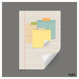 Collection of various vintage papers (paper sheets, note paper), Royalty Free Stock Photo
