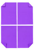 Collection of various violet paper isolated on white Stock Photography