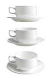 Collection of various white  cups Stock Photo