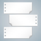 Collection of various white note papers Royalty Free Stock Photography