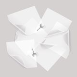 Collection of various white note papers Royalty Free Stock Photo