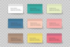 Collection of various white papers, leaves for the label ready for Your message. Vector illustration Royalty Free Stock Photos