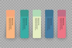 Collection of various white papers, leaves for the label ready for Your message. Vector illustration Royalty Free Stock Images