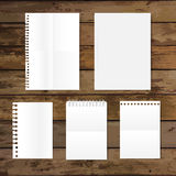 Collection of various white papers, ready for your message. Vect Royalty Free Stock Photos