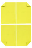 Collection of various Yellow paper isolated on white stock photos